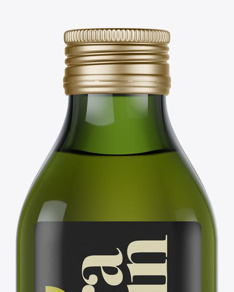 High resolution photo of bottle for olive oil etc. 0.5L Green Glass Olive Oil Bottle Mockup - Front view in ...