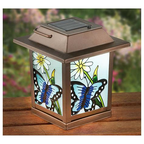 stained glass solar lights 2 stained glass look solar lanterns 627577 solar