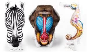 body artist emma fay transforms models  animals