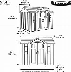 Lifetime 10x8 Outdoor Storage Shed Kit W   Vertical Siding