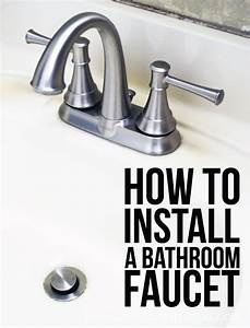 How To Install A Bathroom Faucet Faucets Bathroom