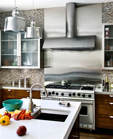 sleek backsplash   stove decoist