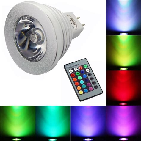 3w rgb spotlight led bulb rgb bulb rgb aluminum led light