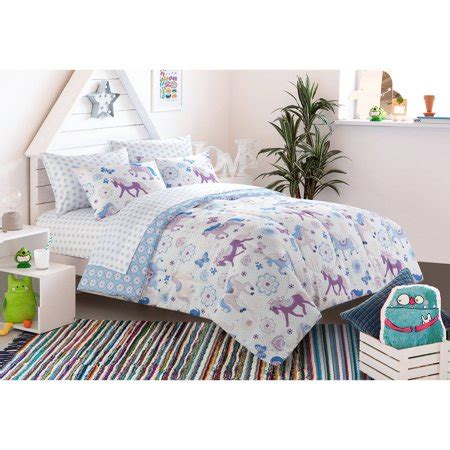28053 mainstays bedding set size set bedding mainstays pretty horses bed in