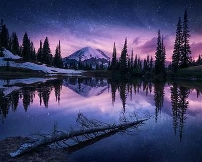 Wallpapers Winter Nature Night 4k Reflection Lake