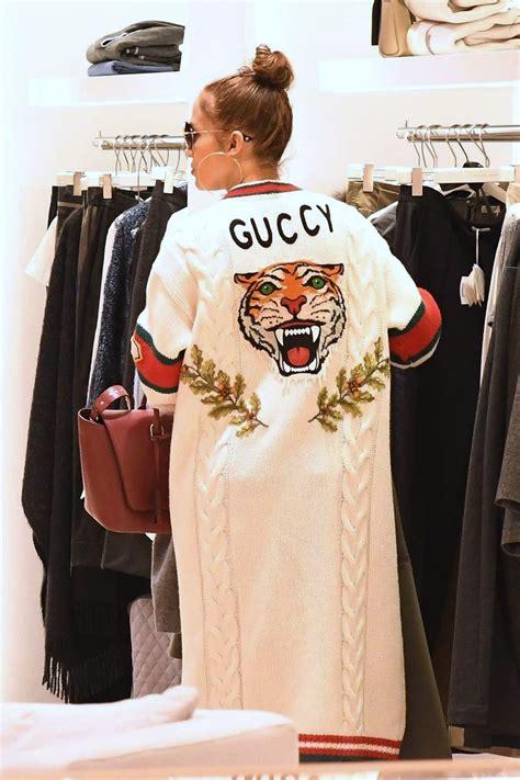 celeb style jennifer lopez wearing gucci embroidered