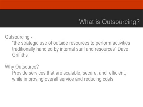outsourcing introduction issues