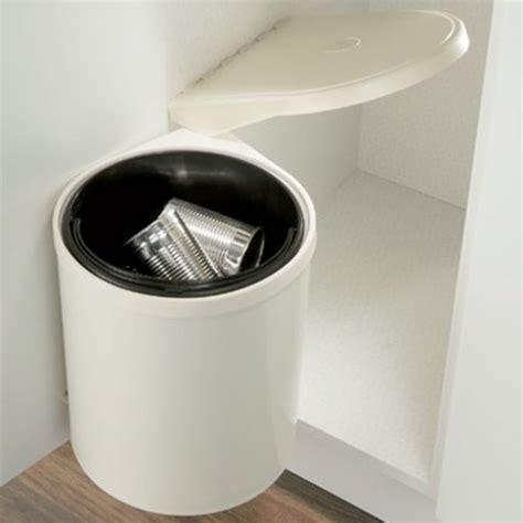 fitmykitchen   Pop Up Waste Bin 10 Litre Cream White Waste
