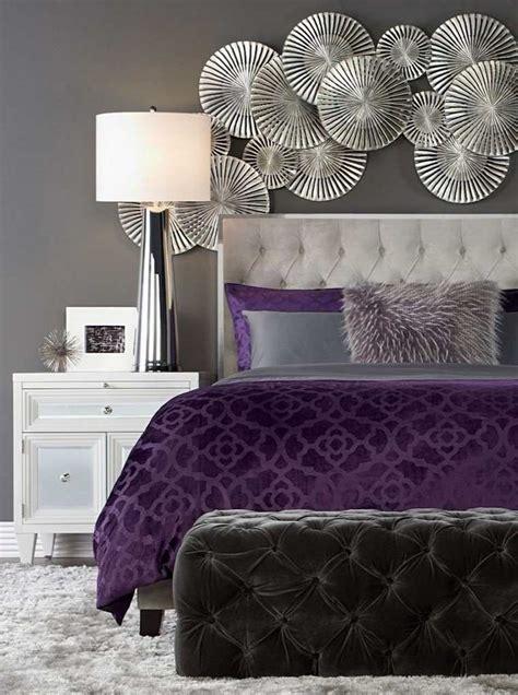 chambre grise et mauve 25 idées de décoration chambre violet élégante à découvrir