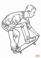 Skateboard Coloring Skateboarding Hawk Drawing Printable Tony Drawings Paper Colorings sketch template