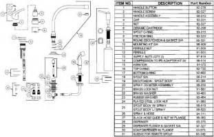 glacier bay kitchen faucet diagram gerber 40 172 kitchen faucet parts