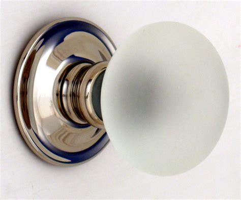 glass door knob frosted smooth glass door knobs
