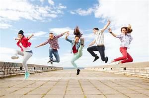 happy teens jumping Gallery