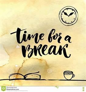 Time For A Break Illustration For Social Media, Office ...
