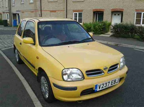 nissan yellow nissan 2000 micra inspiration 16v yellow ac car for sale