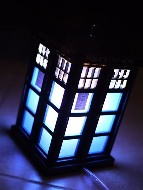 handmade doctor  tardis night light gadgetsin