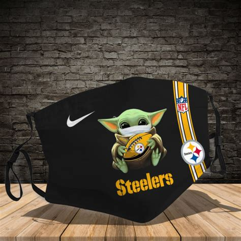 baby yoda steelers nfl face mask