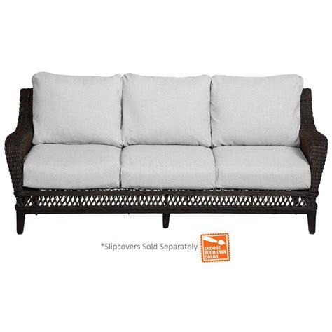 home depot sofa hton bay woodbury patio sofa with cushion insert