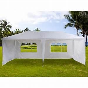Prix Tonnelle Pas Cher : magnifique tente de jardin pergola 3x6m toile blanche ~ Premium-room.com Idées de Décoration