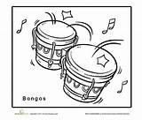 Bongo sketch template