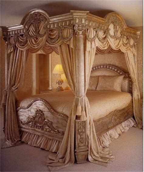antique canopy bed with gold the connection