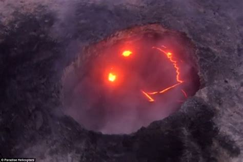 what are lava ls made out of hawaii volcano appears to show off a red grin complete
