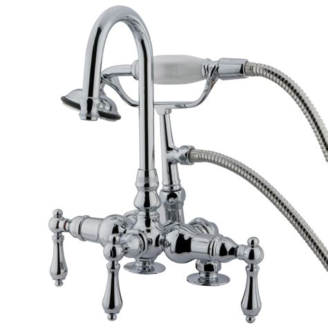 clawfoot tub fixtures shop kingston brass vintage chrome 3 handle fixed clawfoot