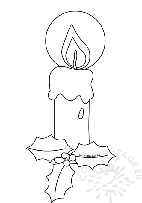 candle coloring pages  christmas coloring page