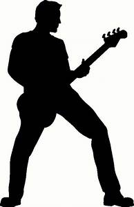 Rock Guitar Player Silhouette - ClipArt Best
