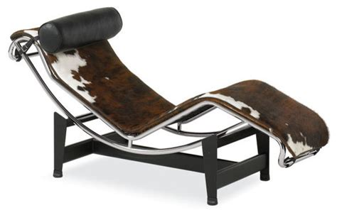 Cowhide Chaise by Cowhide Chaise Eclectic Indoor Chaise Lounge