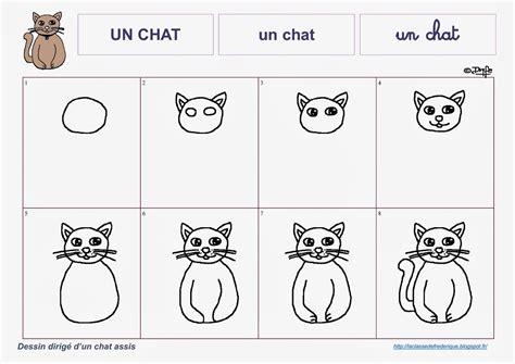 comment dessiner un chat assis classe de ms gs de maternelle quot apprendre par les autres avec les autres pour les autres et non