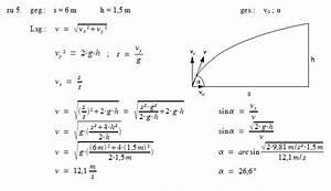 Schiefer Wurf Winkel Berechnen : patrick 39 s physikseite physikaufgaben mit l sungen ~ Themetempest.com Abrechnung