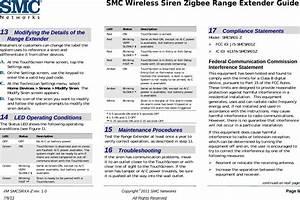 Smc Networks Smcsr01z Home Siren Repeator User Manual Smc