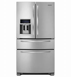 Kitchenaidr 25 cu ft standard depth four door french for Kitchenaid architect ii refrigerator