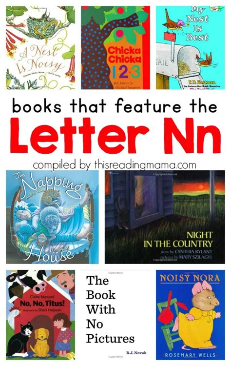 learning the alphabet letter n printable pack this 187 | Book List for the Letter N Books that Feature the Letter N This Reading Mama