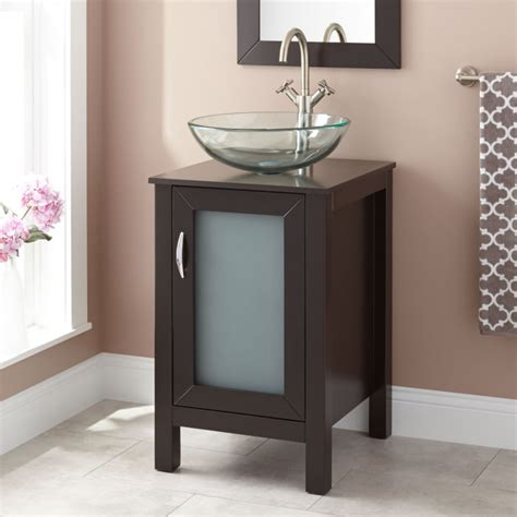 """You don't have to give up style or convenience in your smaller bathroom. 19"""" Claxton Vessel Sink Vanity - Espresso - Vessel Sink ..."""