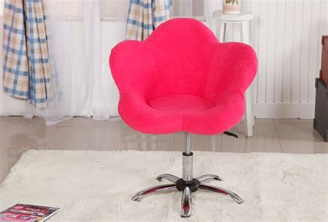 pink swivel chair office chair home chair flower fabric