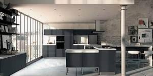 Cuisine Deco Industrielle : cuisine industrielle moderne leroy merlin ~ Carolinahurricanesstore.com Idées de Décoration