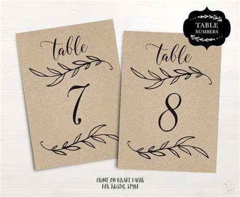wedding table numbers  rustic wedding table numbers