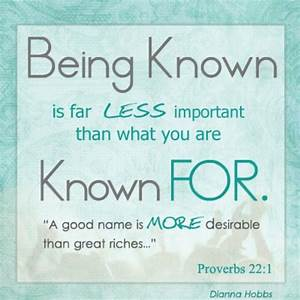 Proverbs 22:1- ... Reputation Worth Quotes
