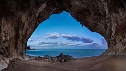 Cave Sunrise Sea Moon Sand Nature Bay