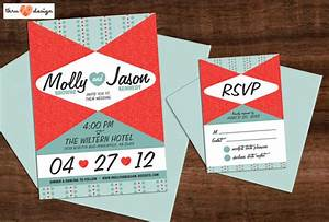 50s style wedding invitation by kjohnstoncreative on etsy With wedding invitations 1950s style