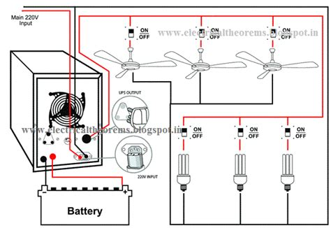 ups wiring diagram for home electrical theorems