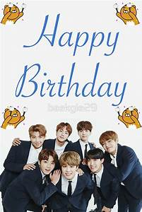 """""""BTS Birthday Card"""" Stickers by baekgie29 Redbubble"""