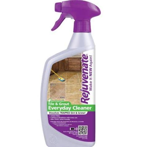 Rejuvenate Floor Cleaner Home Depot by Rejuvenate 24 Oz Bio Enzymatic Tile And Grout Cleaner