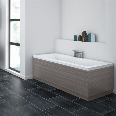 brooklyn grey avola bath panel wood effect
