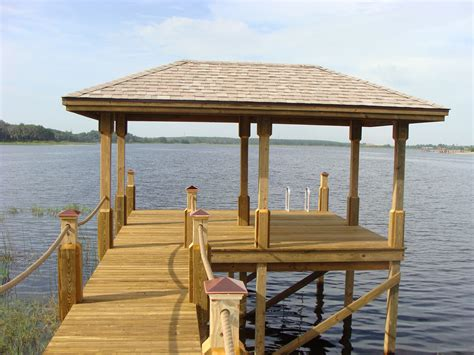 Boat Shelter Ideas by Dock Shelter This Roof Dock Pond Dock