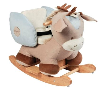 siege a bascule bebe nattou cheval à bascule rigolos doudouplanet