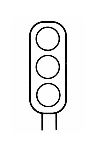 Traffic Clipart Colouring Template Stoplight Clip Lights