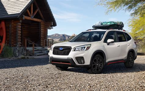 subaru forester white color side view  road uhd